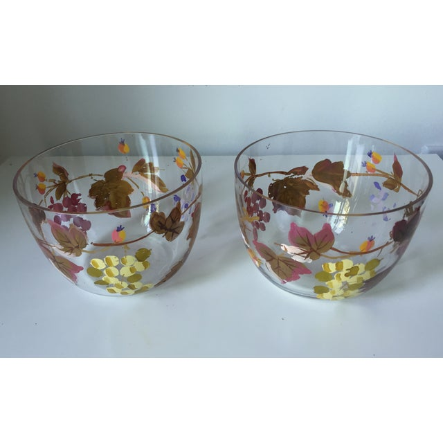 Vintage Grape Vine Crystal Bowls - A Pair - Image 4 of 5
