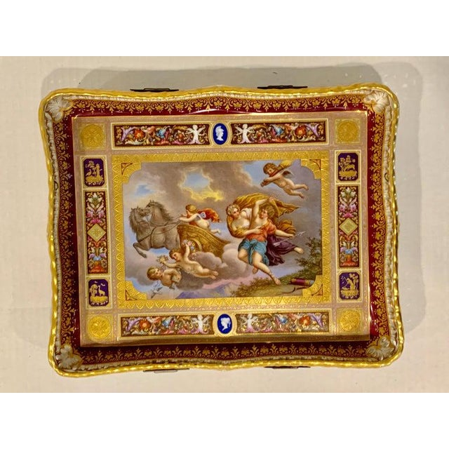 Religious Royal Vienna Pierced Tray Depicting Cupid and the Charriot of Venus For Sale - Image 3 of 11