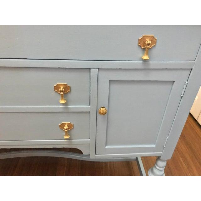Blue Wood Buffet - Image 5 of 9