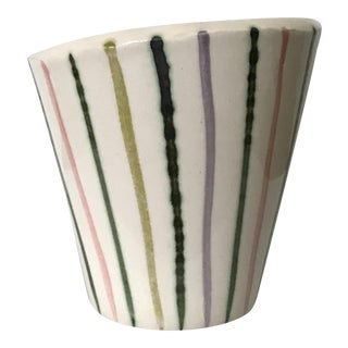 Small Hand Painted Asymmetrical Pot