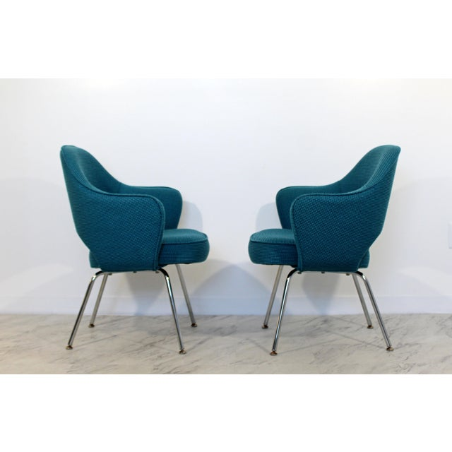 Mid-Century Modern Mid Century Modern Saarinen Knoll Sculptural Executive Office Chairs 1960s - A Pair For Sale - Image 3 of 7