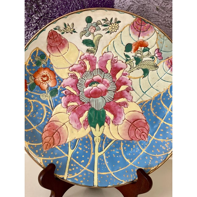 Chinoiserie Tobacco Leaf Plate For Sale - Image 3 of 11