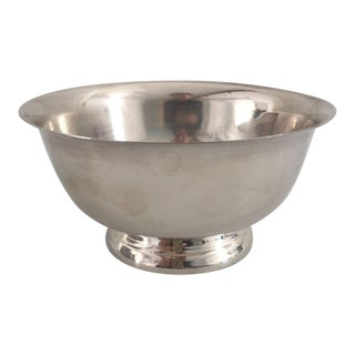Mid-Century Paul Revere Style Silver Plate Bowl