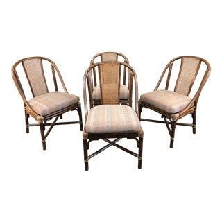 McGuire Caned Side Chairs, Set of Four For Sale