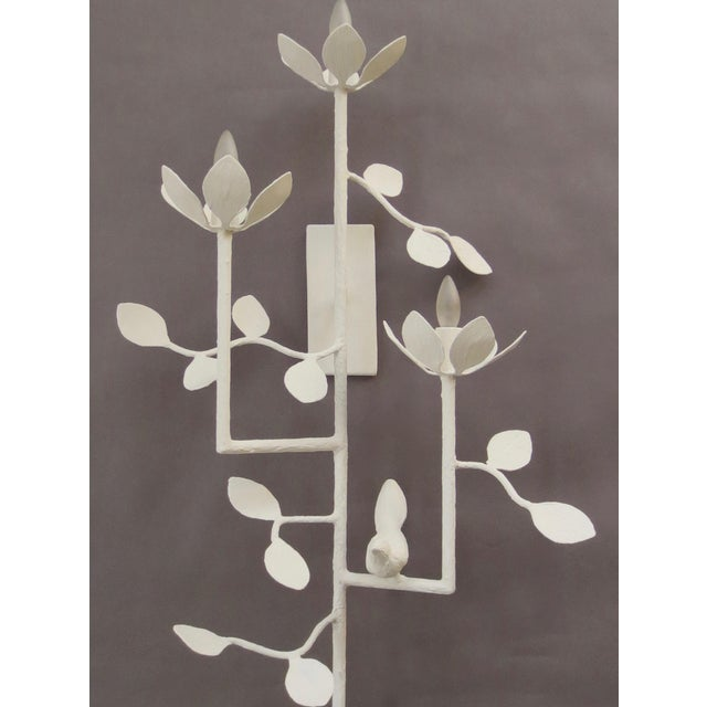 Contemporary Plaster Garden Sconce For Sale - Image 3 of 7