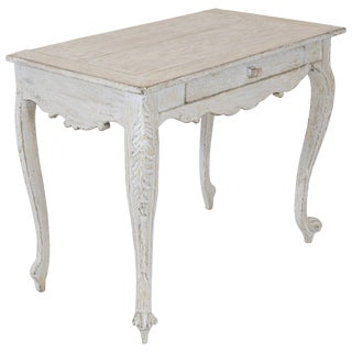 Painted Gustavian Table With a Single Drawer For Sale