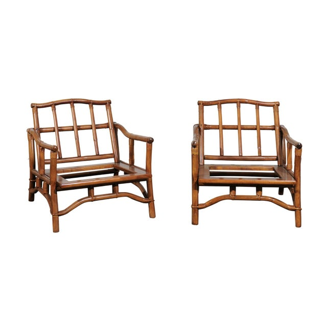 Beautiful Restored Pair of Pagoda Style Loungers by Ficks Reed, circa 1970 For Sale - Image 13 of 13