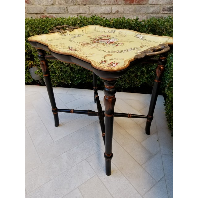 2000 - 2009 Porcelain Tray Table For Sale - Image 5 of 9