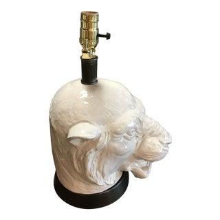Ceramic Tiger Table Lamp For Sale