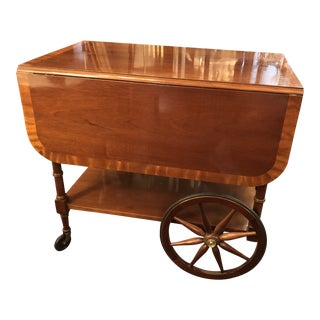 Vintage Baker Wood Serving/Barcart For Sale