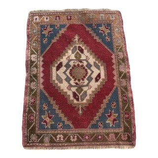 "Hand Made Vintage Turkish Area Rug- 2'2"" X 3' For Sale"
