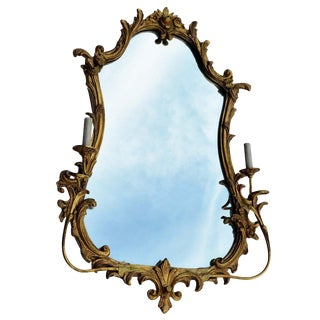 Antique Friedman Brothers Gilt Sconced Mirror For Sale