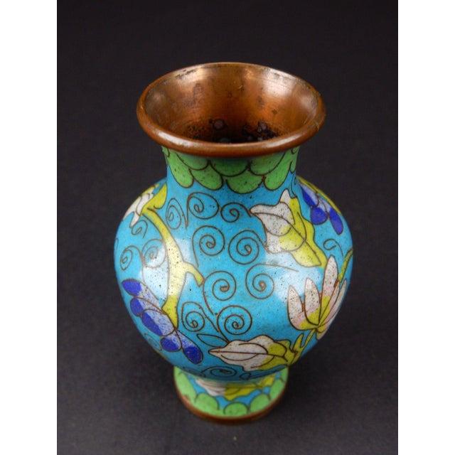 Cloisonné Antique Chinese Cloisonne Temple Vase For Sale - Image 7 of 11