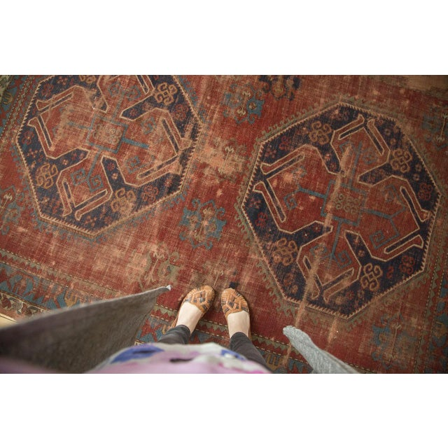 "Vintage Caucasian Carpet - 5'8"" X 7'6"" - Image 7 of 9"