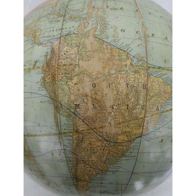 Antique Rand McNally Twelve Inch Terrestrial Globe - Atlas For Sale - Image 11 of 13