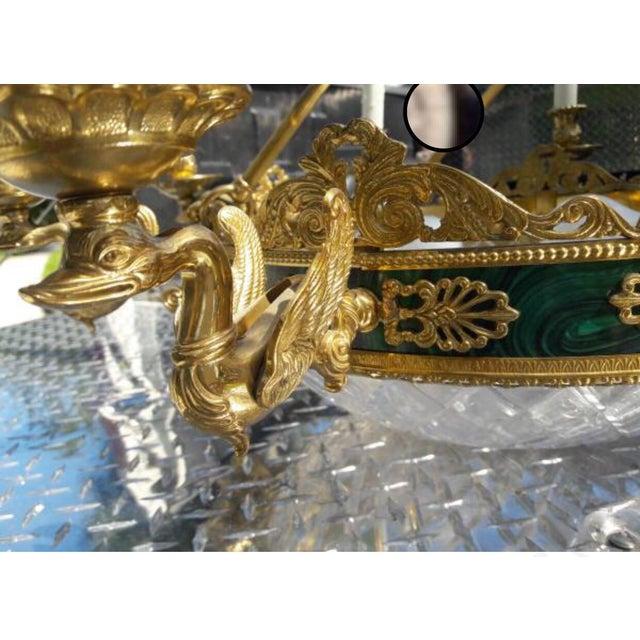 10-Light Brass Swan Chandelier - Image 4 of 4