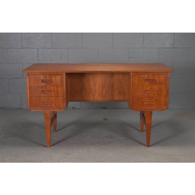 Danish Modern Teak Desk For Sale - Image 10 of 10