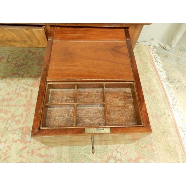 Wood Elegant Louis XVI 19th Century Walnut Desk For Sale - Image 7 of 11