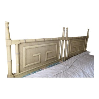 Vintage Dixie Shangri-La Bedroom Twin Size Headboards - A Pair For Sale