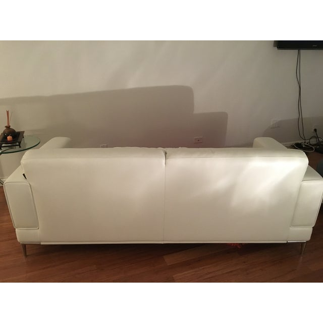 Modani Bristol White Leather Couch - Image 5 of 5