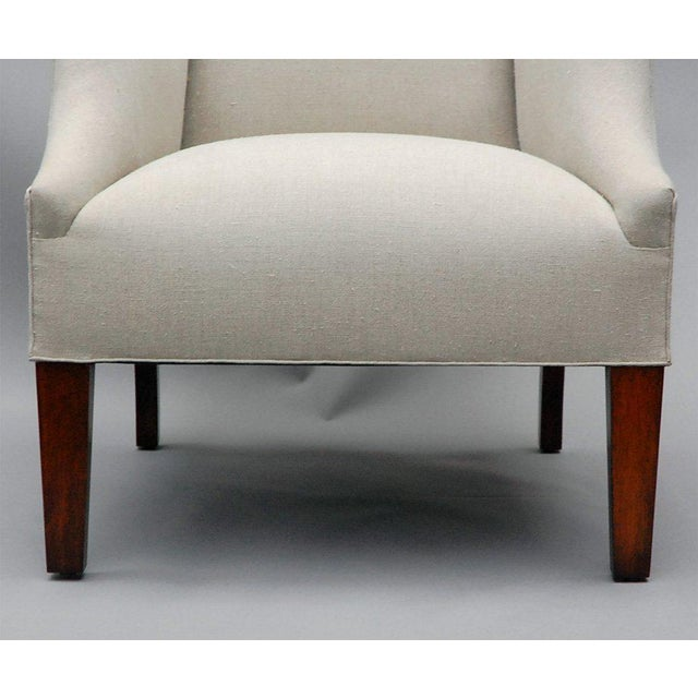 """""""Somerton"""" by Lee Stanton Armchair Upholstered in Belgian Linen or Custom Fabric For Sale - Image 4 of 9"""