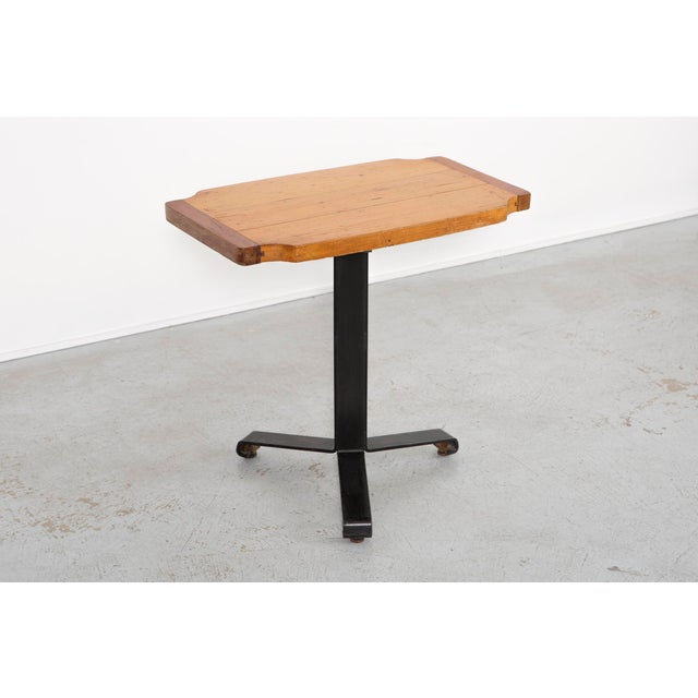 Brown Les Arcs Occasional Table by Charlotte Perriand For Sale - Image 8 of 8
