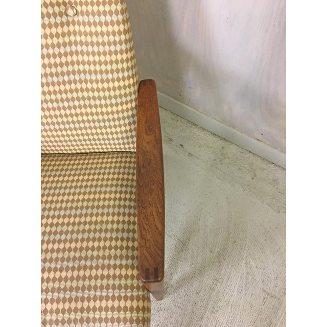 1960s Ulferts Upholstered Lounge Chair With Teak Frame For Sale - Image 5 of 7