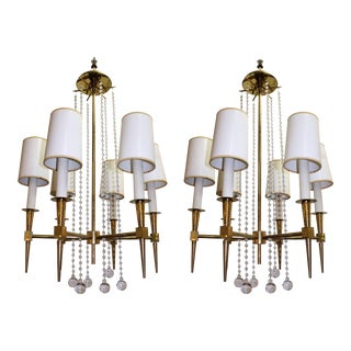 Tommi Parzinger Chandeliers with Six Lights - a Pair For Sale