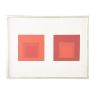 Josef Albers Homage to the Square in Red Print For Sale