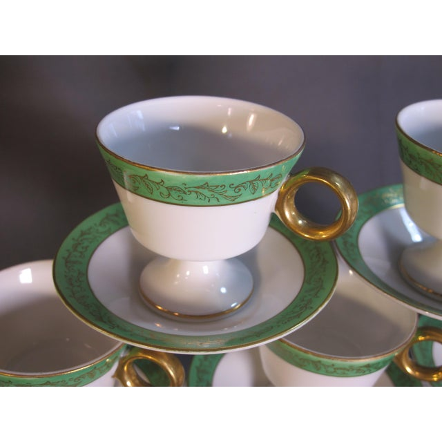 Mid Century Demi-Tasse Cups & Saucers - Service for 9 For Sale In Philadelphia - Image 6 of 7