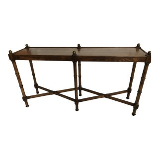 20th Century Chinoiserie Brandt Faux Bamboo Console Table For Sale