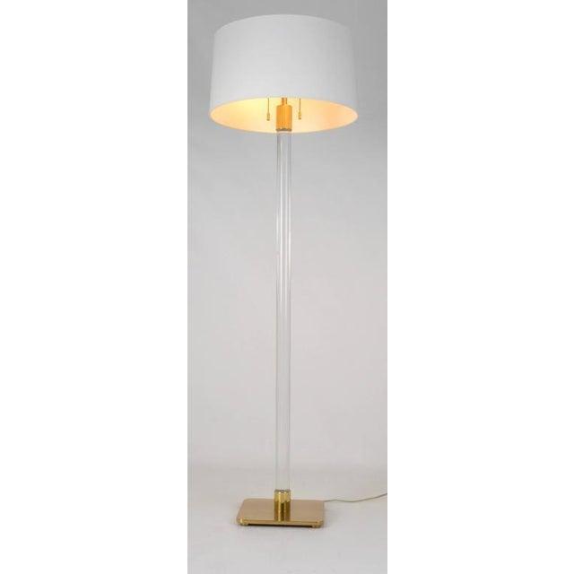 Hansen Glass and Brass Floor Lamp Usa, 1970 - Image 6 of 9