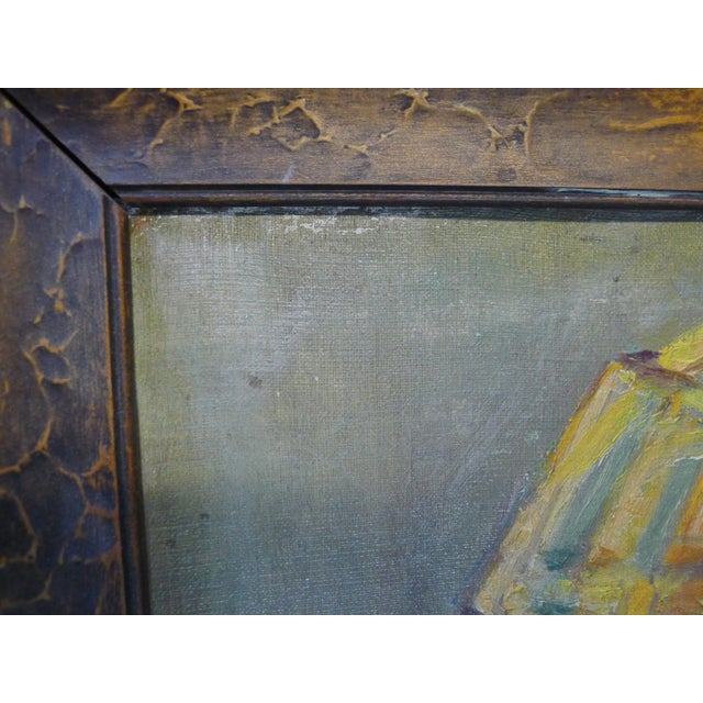 Early 20th Century Antique Portrait Painting For Sale In Los Angeles - Image 6 of 10