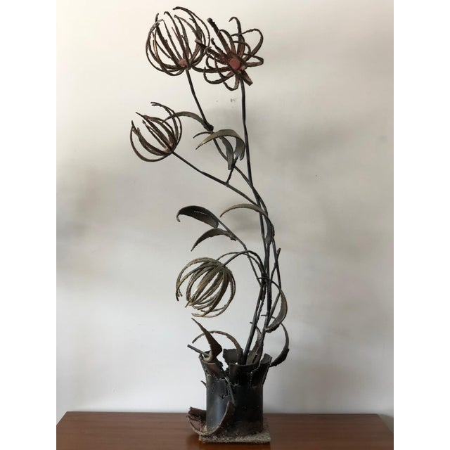 1960s Brutalist Paul Evans Style Flowers Sculpture For Sale - Image 11 of 11