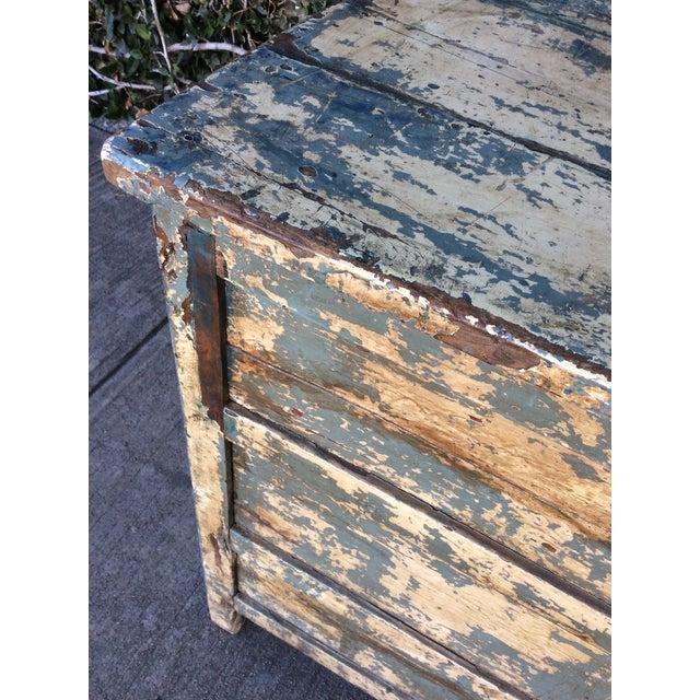 Wood Vintage Shabby Chic Desk For Sale - Image 7 of 10