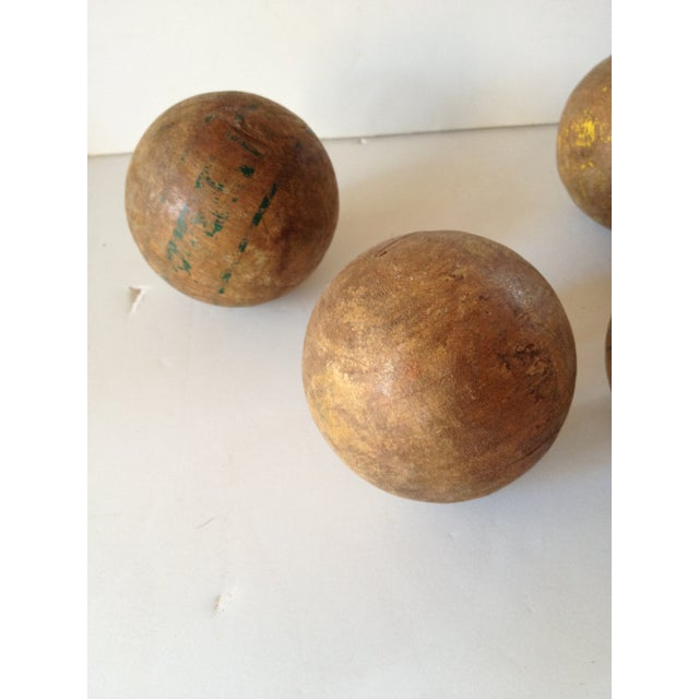 Wood Lawn Balls - Set of 6 - Image 3 of 5