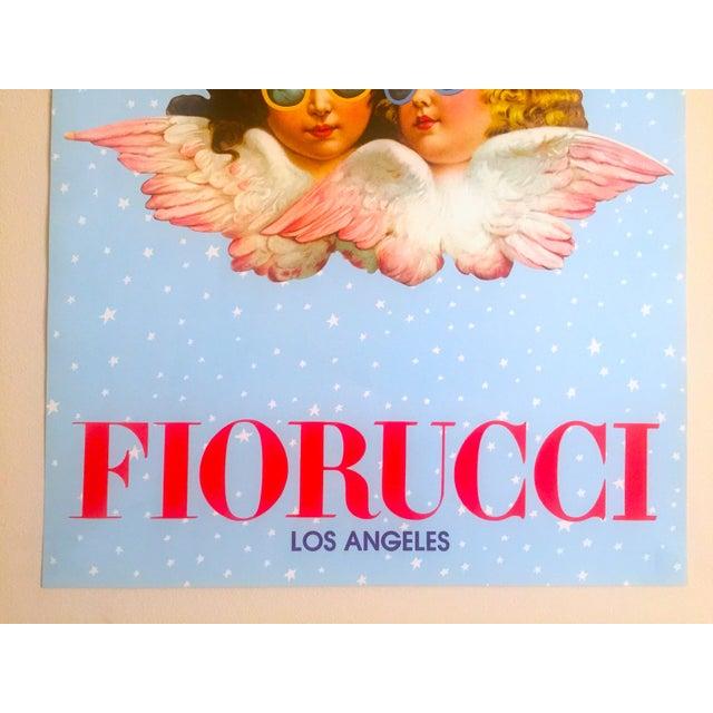 Boho Chic Vintage 1980 Rare Fiorucci New Wave Italian Fashion Iconic Cherub Angels Post Modern Pop Art Poster For Sale - Image 3 of 9