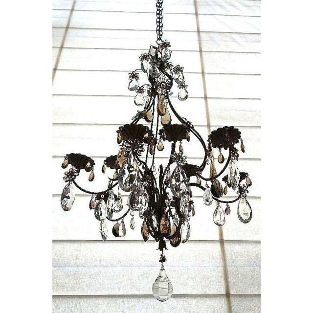 "An exquisite French Candle Chandelier with Crystal Drops. The seller says: ""This is one of my favorites from the..."