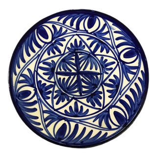 Spanish Style Blue and White Hanging Decorative Plate