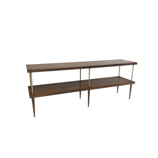 Mid Century Modern Shelving Console by Lane For Sale