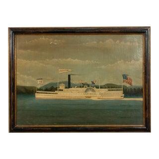 American Ebonized Greyhound Boat Painting For Sale