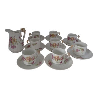 Antique French Limoges Cocoa/Demitasse - Service for 8 For Sale