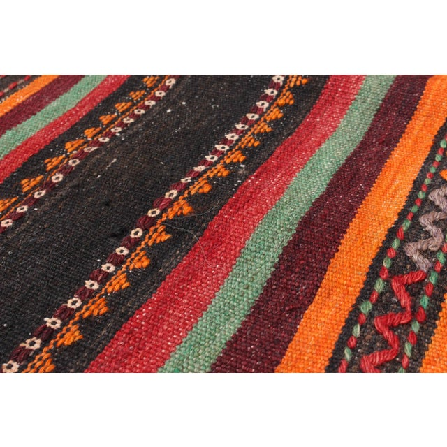 "Vintage Tribal Persian Kilim - 5'1"" X 11'0"" - Image 2 of 2"