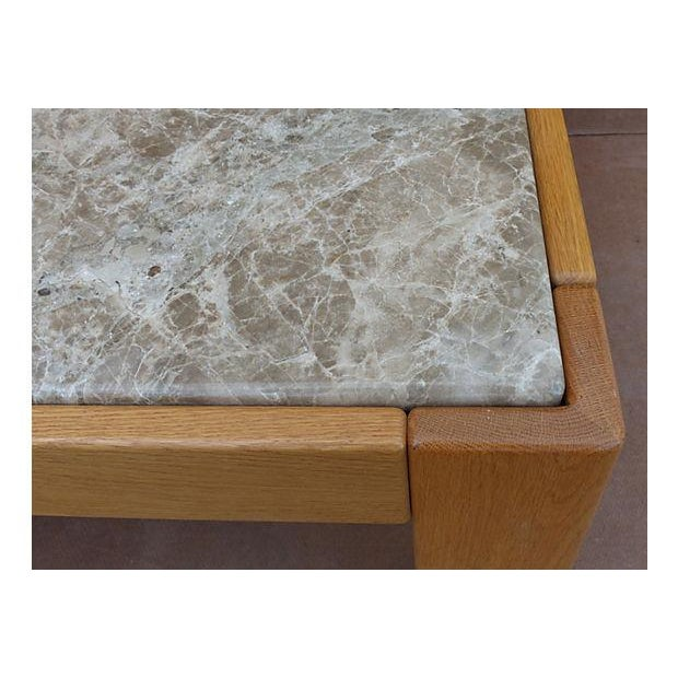 Knoll Beechwood and Marble Coffee Table For Sale In Miami - Image 6 of 10