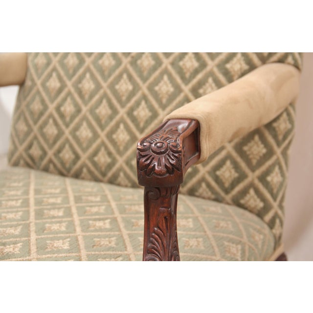 Late 20th Century Carved Italian Style Armchairs, a Pair For Sale - Image 5 of 10