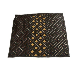 African Raffia Embroidery Kuba Textile For Sale