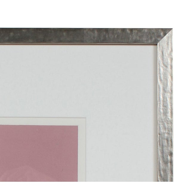 Abstract Minimal Abstract Monotype in Pink, 20th Century For Sale - Image 3 of 4