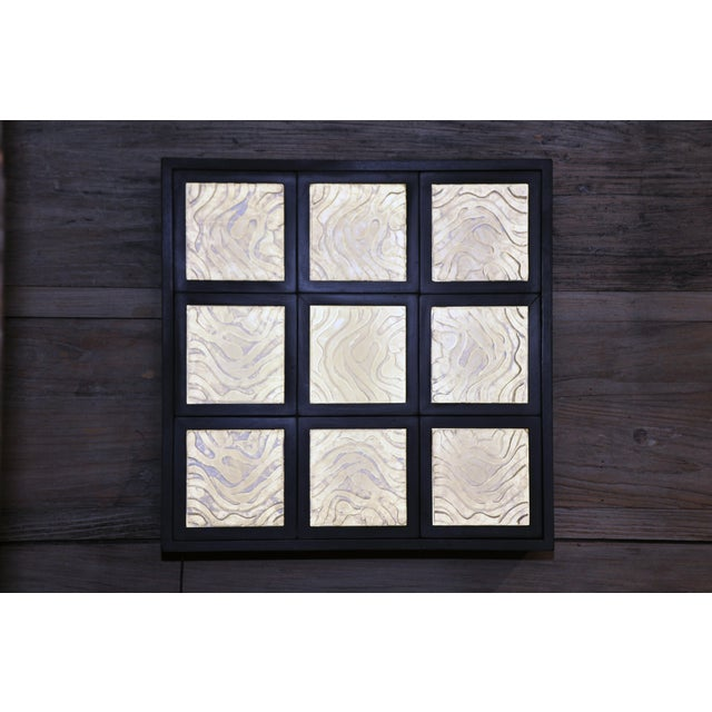 Golden Triangle Chicago Cast Glass Light Box For Sale - Image 13 of 13