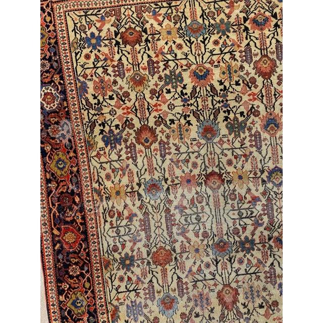 "Folk Art Classic Antique Persian Sarouk Rug, 4'4"" X 6'5"" For Sale - Image 3 of 11"