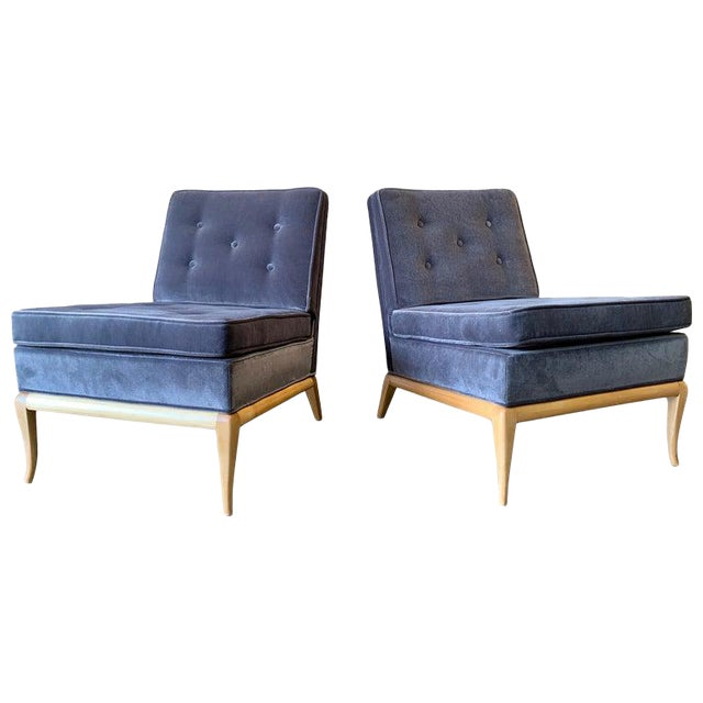 Vintage Mid Century Slipper Chairs- A Pair For Sale